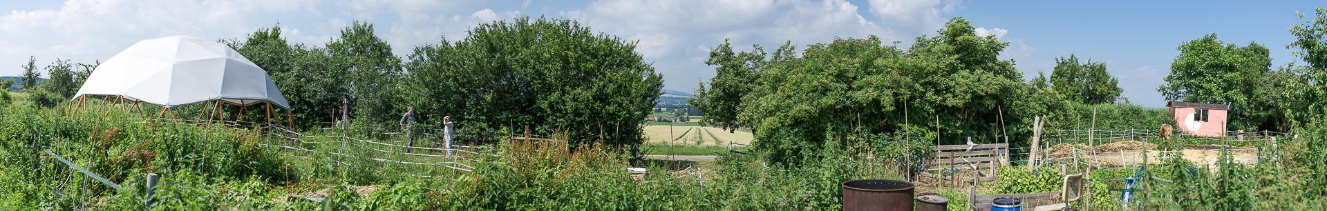 Panorama des Gartens